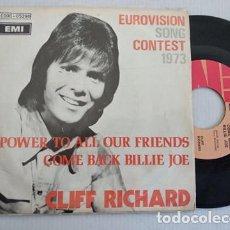 Disques de vinyle: CLIFF RICHARD – POWER TO ALL OUR FRIENDS 1973 UK EDIC BELGA. Lote 266228713