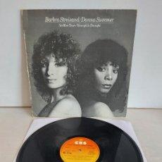 Discos de vinilo: BARBRA STREISAND-DONNA SUMMER / NO MORE TEARS / MAXI SG - CBS-1979 / MBC. ***/***. Lote 266264713