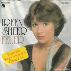 Discos de vinilo: 45 GIRI IREEN SHEER FEUR EUROVISION SONG CONTEST 1978 GRAND PRIX ELECTROLA EMI GERMANY. Lote 266272243
