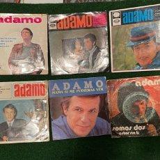 Discos de vinilo: LOTE 10 SINGLES DE VINILO ADAMO - INCLUYE PROMOCIONALES - SOMOS DOS - MARIE LA MER - 1960 1970. Lote 266298293