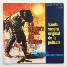 Discos de vinilo: ENNIO MORRICONE – LA MUERTE TENÍA UN PRECIO (BANDA SONORA ORIGINAL DE LA PELÍCULA) SPAIN,1966. Lote 266309213