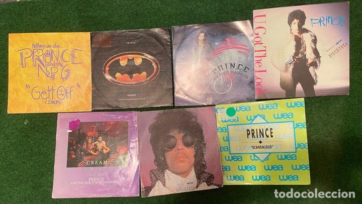 LOTE 7 SINGLES DE VINILO PRINCE - INCLUYE PROMOCIONALES - BATDANCE SCANDALOUS U GOT THE LOOK CREAM (Música - Discos - Singles Vinilo - Funk, Soul y Black Music)