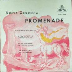Discos de vinilo: EP - NUEVA ORQUESTA PROMENADE - OBRAS INMORTALES DE KETELBEY - EN UN MERCADO PERSA +3 - 1962. Lote 266317058