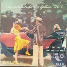 Discos de vinilo: EP - THE CHARLESTON ALL STARS - RECORDANDO LOS FELICES VEINTES - AIN'T SHE SWEET +3 - 1959. Lote 266323783