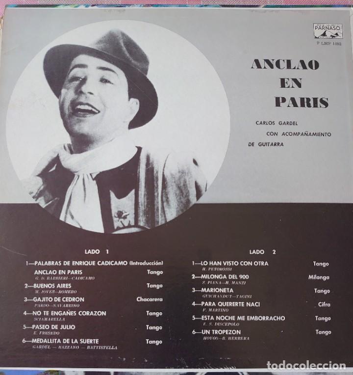 Discos de vinilo: Carlos Gardel París Lp editado en USA por el sello Parnaso. - Foto 2 - 266329018