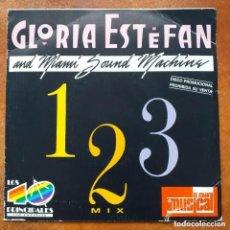 Discos de vinilo: GLORIA ESTEFAN AND MIAMI SOUND MACHINE C/V PASADENAS- 1 2 3 MIX (SG) PROMO !!!!! 40 PRINCIPALES.. Lote 266333388