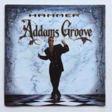 Discos de vinilo: HAMMER – ADDAMS GROOVE (LP VERSION) / ADDAMS GROOVE (INSTRUMENTAL) EUROPE,1991. Lote 266339418