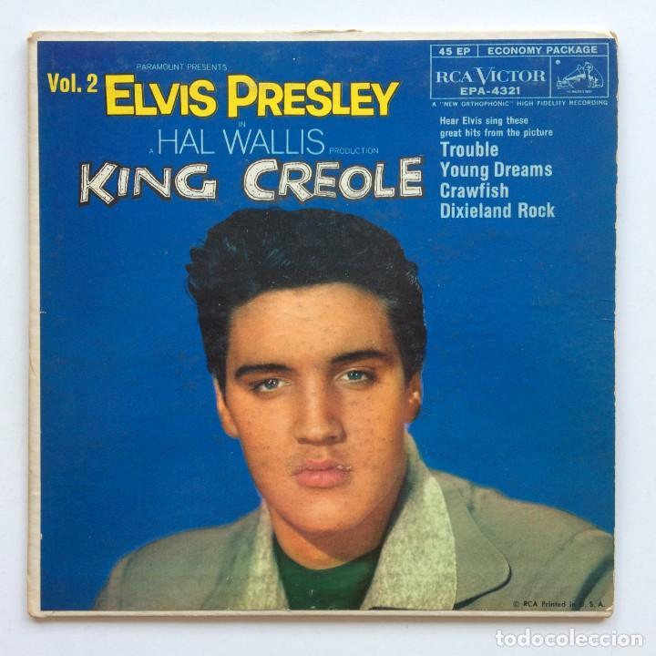 ELVIS PRESLEY – KING CREOLE - VOL. 2 AUSTRALIA RCA VICTOR (Música - Discos de Vinilo - EPs - Rock & Roll)