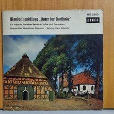 """Discos de vinilo: WUPPERTALER MANDOLINEN-ORCHESTER – MANDOLINENKLÄNGE """"UNTER DER DORFLINDE"""" - EIN POTPOURRI BELIEBTER. Lote 266402403"""