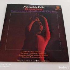 Discos de vinil: M. DE FALLA*, INÉS RIVADENEIRA, ALICIA DE LARROCHA, ORQUESTA DE CONCIERTOS DE MADRID, JESUS ARAMBARR. Lote 266403328