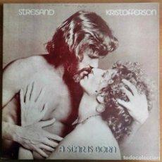 """Discos de vinilo: LP VINILO. STREISAND / KRISTOFFERSON. """"A STAR IS BORN"""". OST / BSO (CBS 1976). Lote 266425818"""