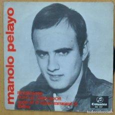 Discos de vinilo: MANOLO PELAYO - REGRESARE - SINGLE. Lote 266511678
