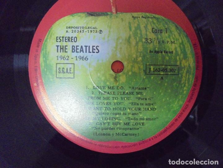 Discos de vinilo: THE BEATLES. 1962-1966. 2 LP VINILO. EMI ODEON.1973. VER FOTOGRAFIAS ADJUNTAS - Foto 11 - 266530263