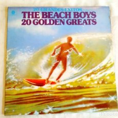Discos de vinilo: THE BEACH BOYS - 20 GOLDEN GREATS - DOBLE LP - VINILO. Lote 266542748
