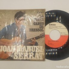 """Discos de vinilo: VINILO DE 7 PULGADAS DE JOAN MANUEL SERRAT QUE CONTIENE """"LA TIETA"""" Y """"CANCÓ DE BRESSOL"""".. Lote 266546913"""