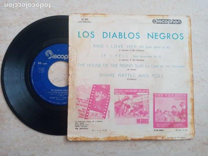 Discos de vinilo: LOS DIABLOS NEGROS.THE HOUSE OF THE RISING SUN.ETC..EP 1964 - Foto 2 - 266547363