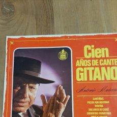 Discos de vinilo: 1983 CIEN AÑOS DE CANTE GITANO HISPANOVOX LP BUENO ESTADO. Lote 266551483