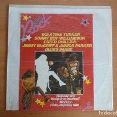 Discos de vinilo: LP VINILO. GRANDES ESTRELLAS ROCK. VOL 4 (SARPE 1982) / ROCK HITS COMPILATION. Lote 266553928