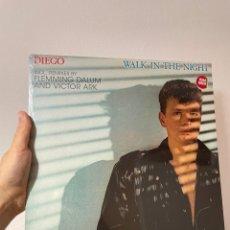 """Discos de vinilo: DIEGO - WALK IN THE NIGHT - PRECINTADO - ITALO DISCO - MAXI SINGLE 12"""". Lote 266556208"""