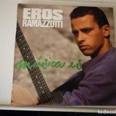 Discos de vinilo: LP- EROS RAMAZZOTTI-MÚSICA ES- AÑO 1988. Lote 266559393