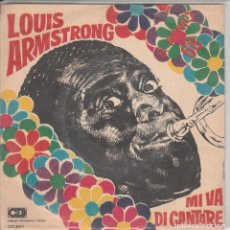 Discos de vinilo: 45 GIRI LOUIS ARMSTRONG MI VA DI CANTARE CDI 2017 ITALY FESTIVAL DI SANREMO 1968. Lote 266569228