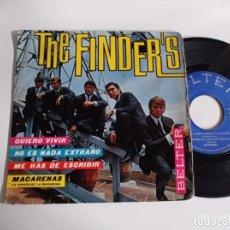 Discos de vinil: EP-THE FINDERS-QUIERO VIVIR-1966-SPAIN.-. Lote 266576433