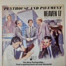 Discos de vinilo: PENTHOUSE AND PAVEMENT. HEAVEN 17. ESPAÑA 1981. I-204017. DISCO VG+. CARÁTULA VG+.. Lote 266591583