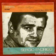 Discos de vinilo: SERGIO ENDRIGO - GIANNI PETTENATI - FESTIVAL DE SAN REMO 1968 - CANZONE PER TE - LA TRAMONTANA. Lote 266604513