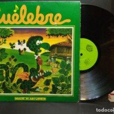 Discos de vinilo: LP CUELEBRE MADE IN ASTURIES ASTURIAS ROCK FOLK PROGRESIVO 1981 ASTURIAS PEPETO. Lote 266606768