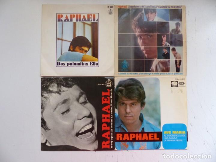 RAPHAEL - LOTE 4 EP ORIGINALES - VER FOTOS ADICIONALES (Música - Discos de Vinilo - EPs - Solistas Españoles de los 50 y 60)