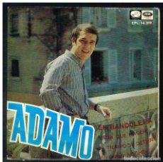 Disques de vinyle: ADAMO - EN BANDOLERA / NADA QUE HACER / EL TIEMPO SE DETIENE +1 - EP 1967 - SOLO CARATULA. Lote 266705258