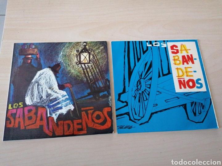 LOTE SINGLES LOS SABANDEÑOS. REGISTROS SONOROS. FONOGUANCHE. TAM TAM. PORTADAS GALARZA (Música - Discos - Singles Vinilo - Otros estilos)