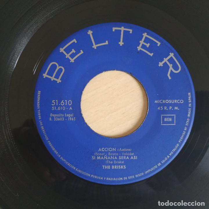 Discos de vinilo: THE BRISKS - LA CORRIDA / ACCION / VEN, VEN, VEN / SI MAÑANA SERA ASI - EP BELTER DEL AÑO 1965 - Foto 4 - 266764938