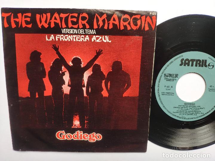 LA FRONTERA AZUL - 45 SPAIN PS - MINT * PROMO * GODIEGO * THE WATER MARGIN * SATRIL 1978 (Música - Discos - Singles Vinilo - Bandas Sonoras y Actores)