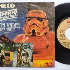 Disques de vinyle: STAR WARS * LA GUERRA DE LAS GALAXIAS - 45 SPAIN PS - MECO * EMPIRE STRIKES BACK. Lote 266775249