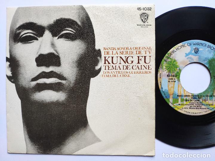 OST KUNG FU - 45 SPAIN PS - MINT * TEMA DE CAINE * WARNER BROS 1974 (Música - Discos - Singles Vinilo - Bandas Sonoras y Actores)