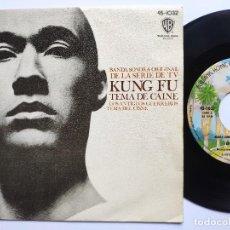 Disques de vinyle: OST KUNG FU - 45 SPAIN PS - MINT * TEMA DE CAINE * WARNER BROS 1974. Lote 266776609