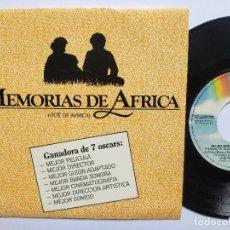 Dischi in vinile: MEMORIAS DE ÁFRICA - EP SPAIN PS - MINT * PROMO * JOHN BARRY * VERSION ESPECIAL MELLISSA MANCHESTER. Lote 266778619