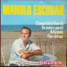 Discos de vinilo: EP - MANOLO ESCOBAR - EL ÁNGEL DE LA GUARDA +3 - 1965. Lote 266790604