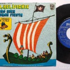 Disques de vinyle: WICKIE EL VIKINGO * 45 SPAIN PS - MINT * HEI, HEI, WICKIE / SOMOS CIEN * PHILIPS 1980. Lote 266792154