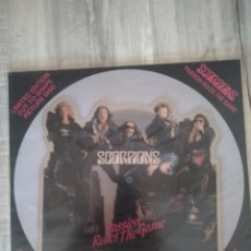 """Discos de vinilo: SCORPIONS """" PASSION RULES THE GAME """". LÍMITED EDITION CUT-TO- SHAPE PICTURE DISC. EDICIÓN UK. 1988.. Lote 266796674"""