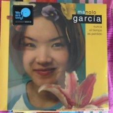 Discos de vinilo: MANOLO GARCÍA - NUNCA EL TIEMPO ES PERDIDO (2001) - LP DOBLE REEDICIÓN SONY 2018 NUEVO. Lote 266832769