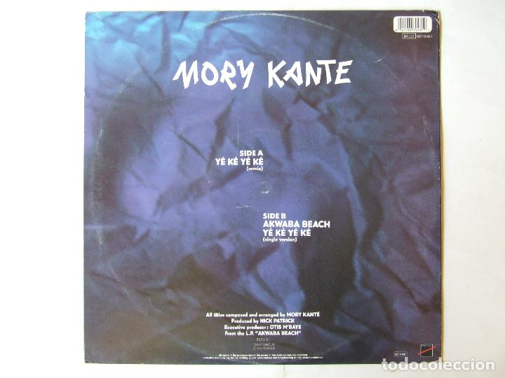 Discos de vinilo: MAXI SINGLE VINILO MORY KANTE YE KE YE KE - Foto 2 - 266836434