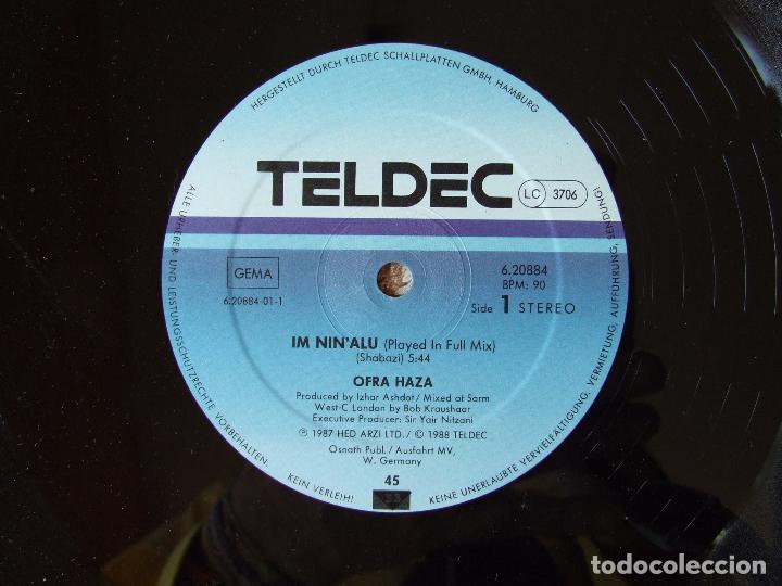 Discos de vinilo: MAXI SINGLE VINILO OFRA HAZA IM NIN'ALU (PLAYED IN FULL MIX) EDICION ALEMANA - Foto 3 - 266837139