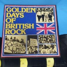 Discos de vinilo: GOLDEN DAYS OF BRITISH ROCK - 4 DISCOS 1976. Lote 266851784