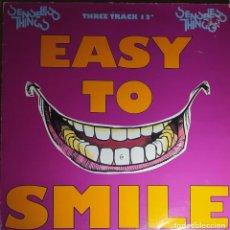 "Discos de vinilo: 12"" SENSELESS THINGS - EASY TO SMILE - EPIC 657695 6 - UK PRESS - MAXI (VG+/VG+). Lote 266857724"