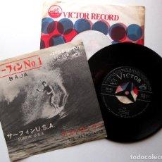 Discos de vinilo: THE ASTRONAUTS - BAJA / SURFIN' U.S.A. - SINGLE VICTOR 1963 JAPAN (EDICIÓN JAPONESA) BPY. Lote 266918814