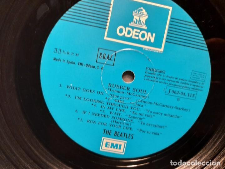 Discos de vinilo: LP BEATLES : RUBBER SOUL ( EDICION ESPAÑA, 1966 ) - Foto 5 - 266973179