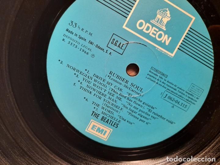 Discos de vinilo: LP BEATLES : RUBBER SOUL ( EDICION ESPAÑA, 1966 ) - Foto 6 - 266973179