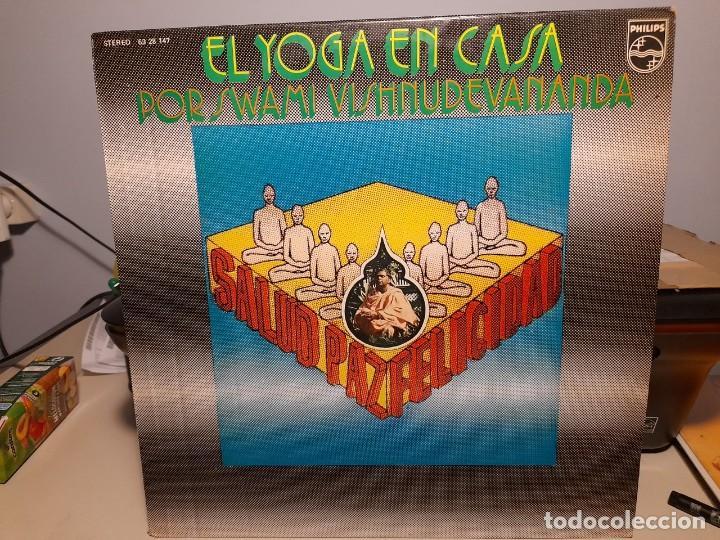 LP EL YOGA EN CASA POR SWAMI VISHNUDEVANANDA ( VOZ EN ESPAÑOL: FRANCISCO VALLADARES ) (Música - Discos - LP Vinilo - Otros estilos)